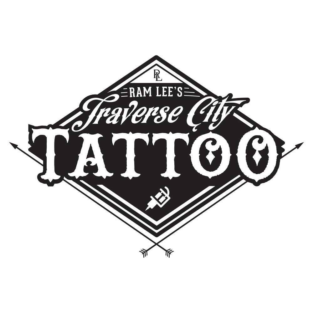 Traversecitytattoologo filled square traverse city tattoo for Square city tattoo